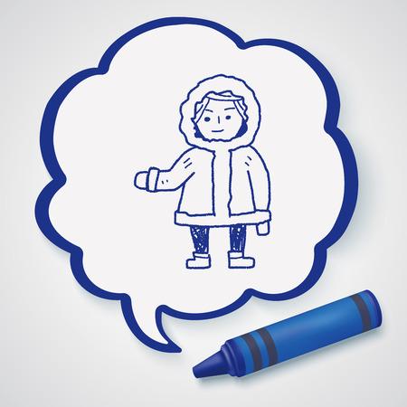 esquimales: Eskimos doodle