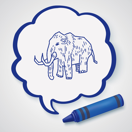 tusks: Mammoth doodle Illustration