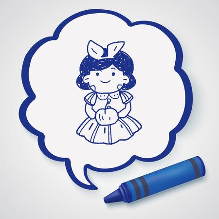 seven dwarfs: snow white doodle