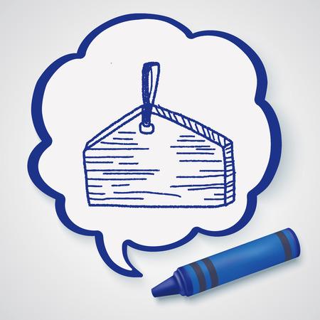 wishing: wishing board doodle Illustration