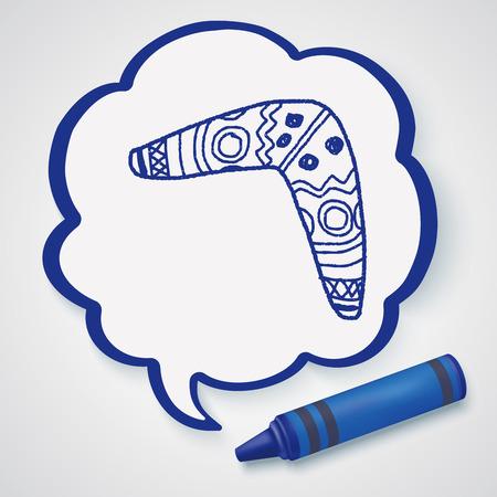 wooden boomerang: boomerang doodle doodle