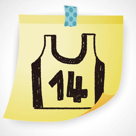 vest: Sports vest doodle drawing Illustration