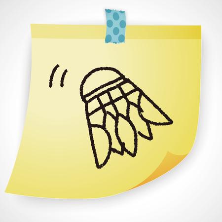 badminton sport symbol: doodle badminton