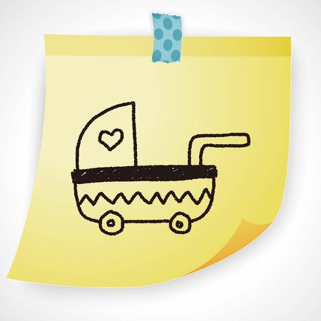 stroller: baby stroller doodle drawing