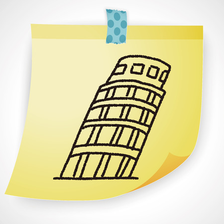 leaning tower: doodle Leaning Tower of Pisa
