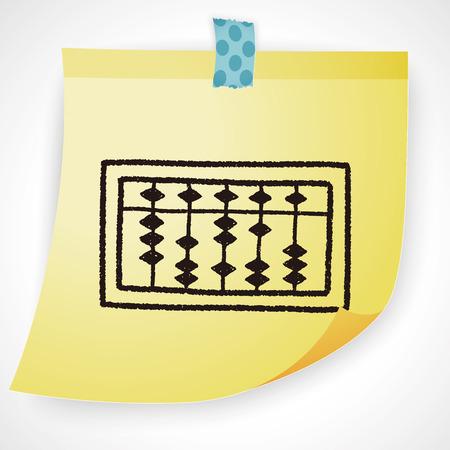 traditional background: doodle abacus Illustration