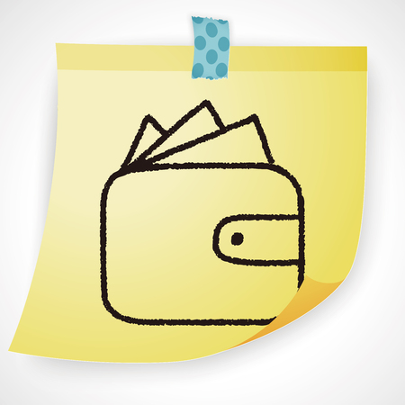 wallet: doodle wallet