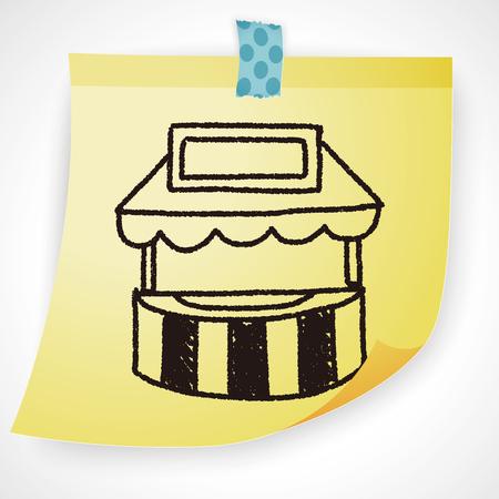 store: Doodle Store Illustration