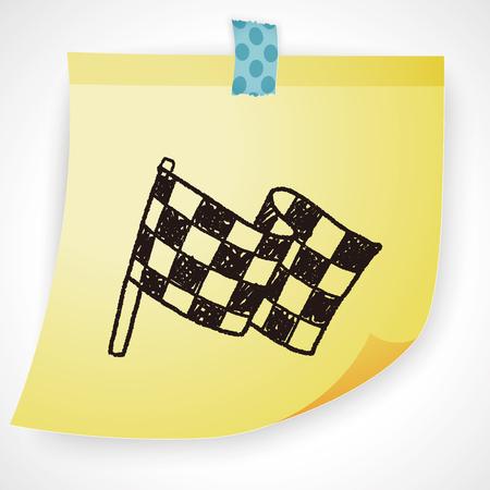 checker flag: Doodle Flag