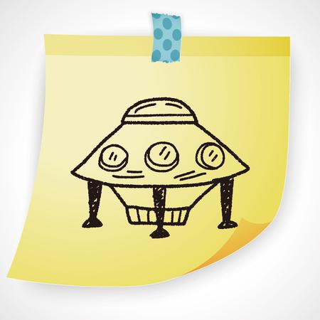alien planet: Doodle Ufo