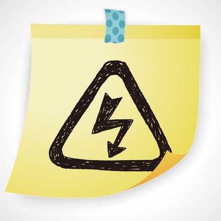 voltage sign: High Voltage sign doodle Illustration
