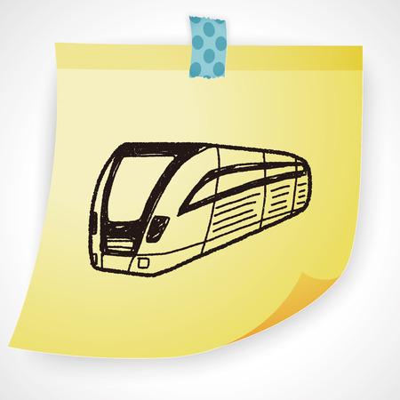 hand rails: train doodle Illustration