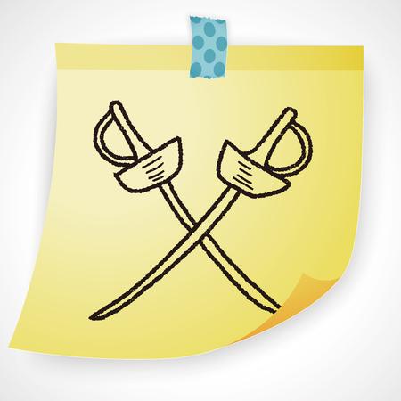 fencing sword: fencing doodle