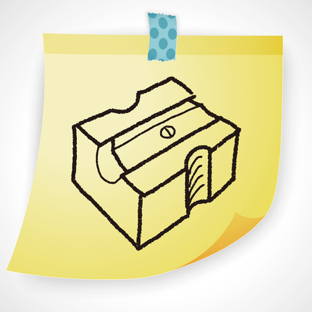 sharpeners: Doodle Pencil sharpeners Illustration
