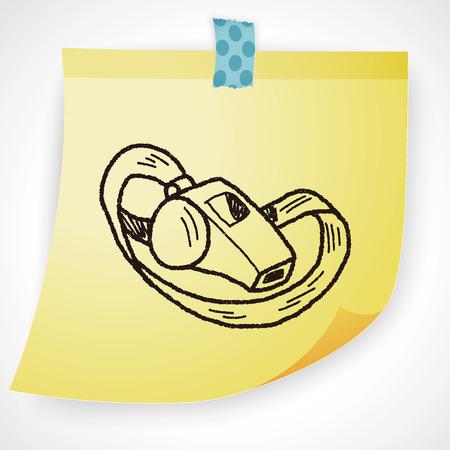 symbol sport: whistle doodle Illustration