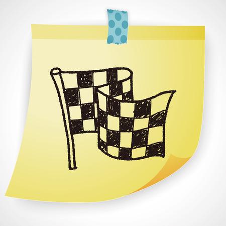 racing flag: racing flag doodle
