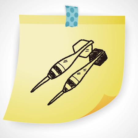 dart: dart doodle Illustration