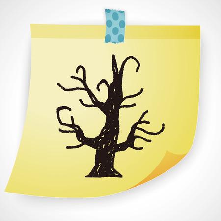 halloween tree: halloween tree doodle Illustration
