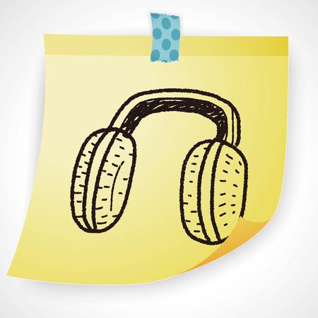 muff: Earmuffs doodle Illustration