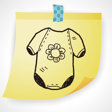 sketch child: baby clothes doodle Illustration