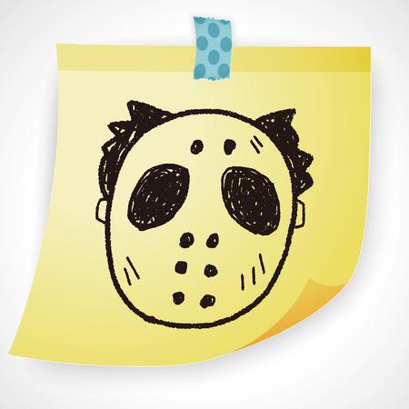 symbol sport: hallowenn mask doodle