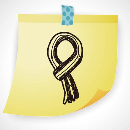 scarf: winter scarf doodle