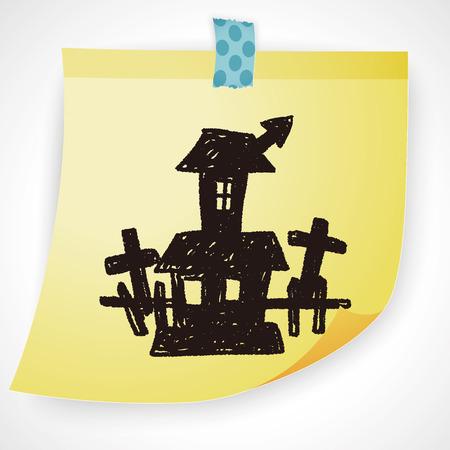 halloween castle: halloween house doodle