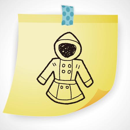 office wear: Coat doodle