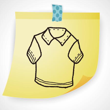 t short: polo shirt doodle