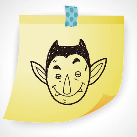 vampire teeth: vampire doodle Illustration