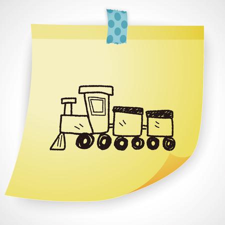 toy train: toy train doodle Illustration