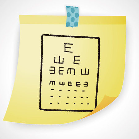 eye test: eye test doodle