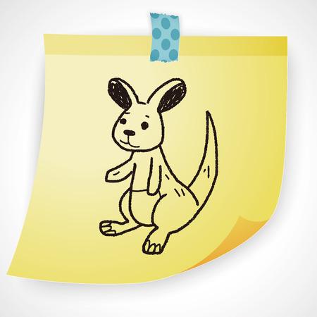 kangaroo mother: kangaroo doodle