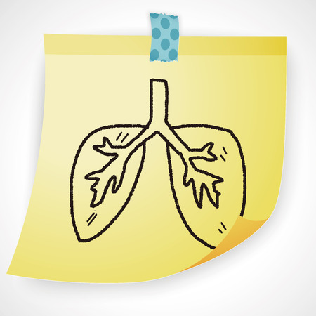 personne malade: Doodle Lung Illustration