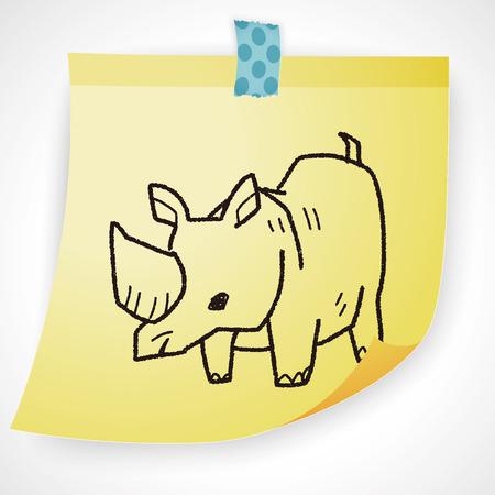 rhino: rhino doodle