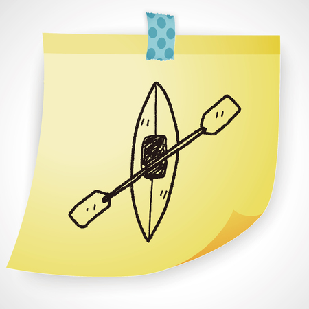 canoe: canoe doodle