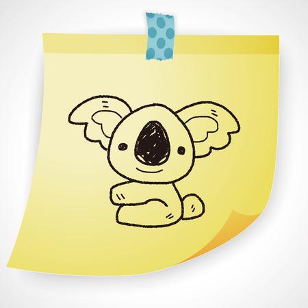 australia: koala doodle