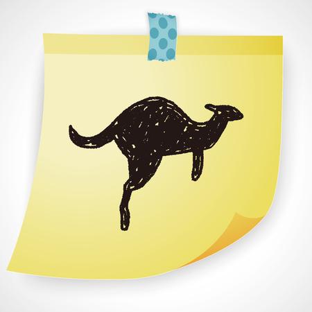 animal pouch: Kangaroo doodle