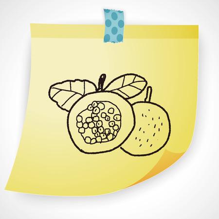 pomegranate juice: Passion Fruit doodle