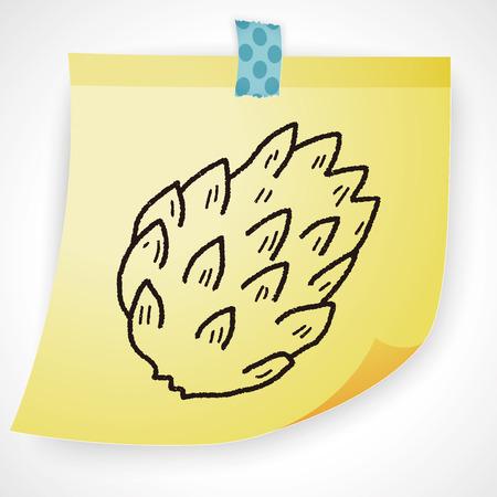 pineapple: Custard apple doodle