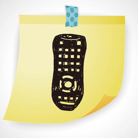 remote: remote control doodle Illustration