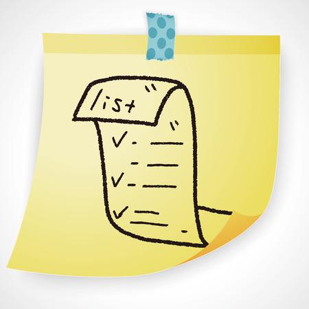 invoice: invoice doodle Illustration