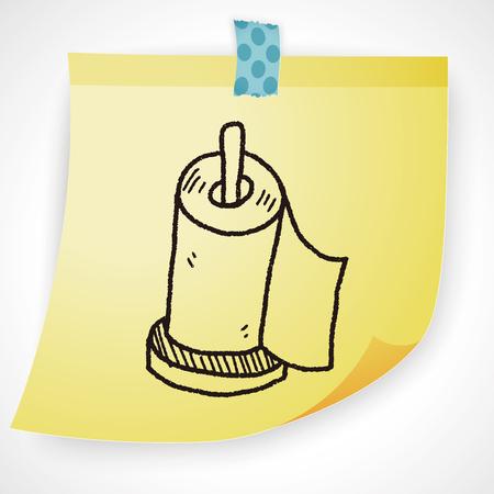 toilet roll: facial tissue doodle doodle Illustration