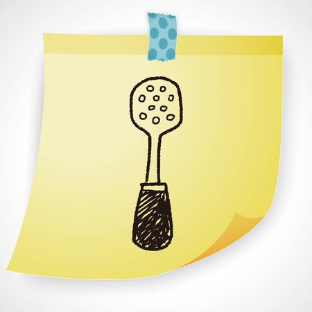 restaurant kitchen: spatula doodle Illustration