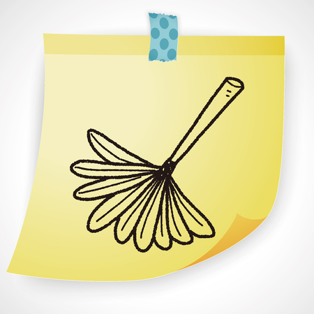 feather duster: feather duster doodle