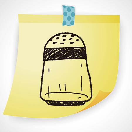 salt: salt pepper doodle Illustration