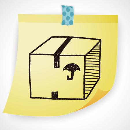 shipping box: shipping box doodle