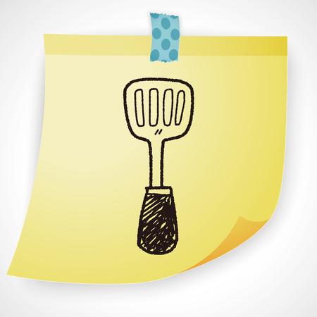 spatula: spatula doodle Illustration