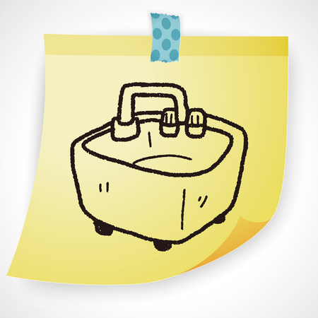 basin: water basin doodle Illustration