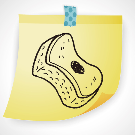scouring: scouring pad doodle Illustration